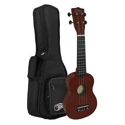 Childrens Natural Soprano Ukulele with Deluxe Padded Carry Bag