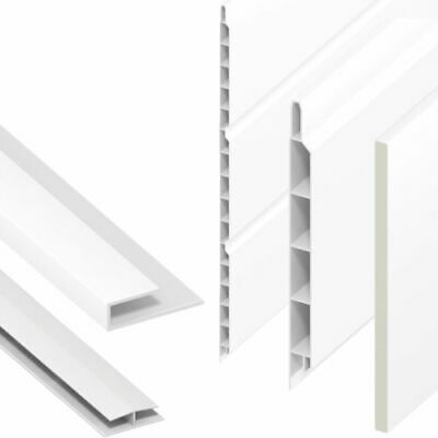 UPVC Flat Plastic General Purpose Soffit Fascia Board Utility 5M Liner 9mm Thick