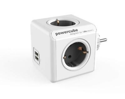 Allocacoc Powercube Orginal Usb Grau 4Xsteckdose 2Xusb 5713