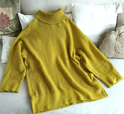 PULL couleur 44 CHACOK MERINOS MOUTARDE LAINE 42 LONG 50 HrwBRqHAx