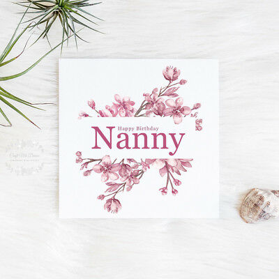 NANNY BIRTHDAY CARD Nanny Card Happy Birthday Nanny
