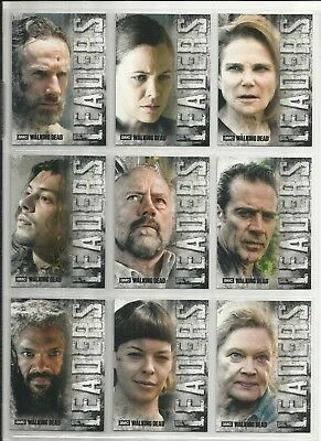 2018 Walking Dead Hunters & Hunted COMPLETE SET of 9 LEADERS Chase Cards (L1-L9)
