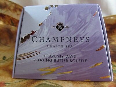 Champneys Spa Heavenly Days Relaxing Butter Souffle 50ml Travel Size NEW BOXED