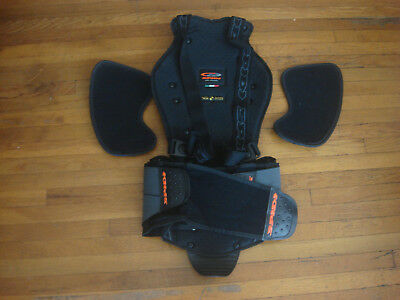 Mens SPIDI Safety Lab Motorcycle Back Protector Harness Commute Tour