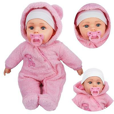 "Baby Doll 20"" Lifelike Large Size Soft Bodied Girls Boys Toy With Dummy & Sounds"