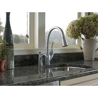 Delta Allora Pull Down Kitchen Sink Faucet and Soap Dispenser D035CR, Stainless