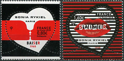 "France. 2018. Art of Sonia Rykiel."" To love each other"" (MNH OG) Set of 2 stamps"