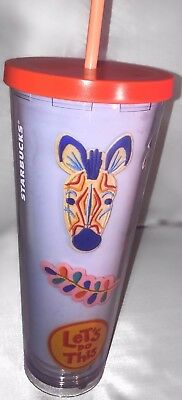 Starbucks Dream In Color Patches Cold Cup 24 Oz Tumbler Venti 🎁FREE SHIPPING🎁