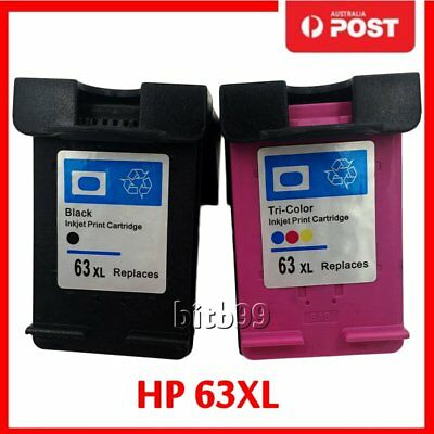 Comp Ink Cartridges HP 63 XL for HP 63 Officejet 2620 for ENVY 4500 Printer IA