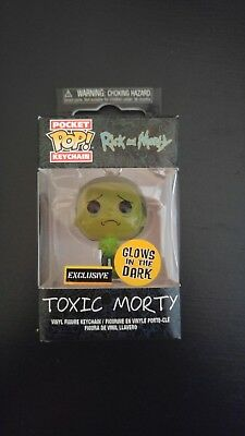 Funko Pocket Pop! Keychain Hot Topic Exclusive Toxic Morty Glow In Dark
