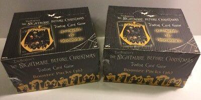 Nightmare Before Christmas Trading Card Game Booster Box Sealed Neca - Lot Of 2