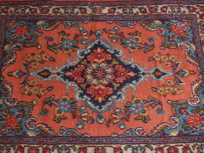 Antique Persian Sarug Wool Rug Handmade Original 3x2 1/4 - 144 knots/square inch