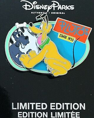 PLUTO DISNEY PIN 85th BIRTHDAY DIAMOND ANNIVERSARY LE PIN NEW ON CARD SOLD OUT!