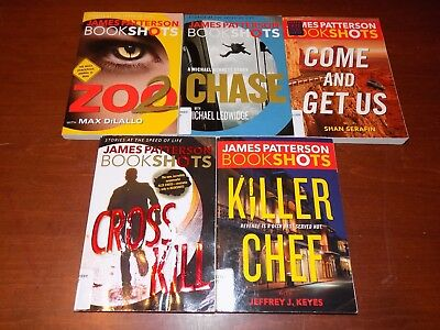 Lot of 6 James Patterson BookShots PB Zoo2, Chase, Come and Get Us, Cross Kill,