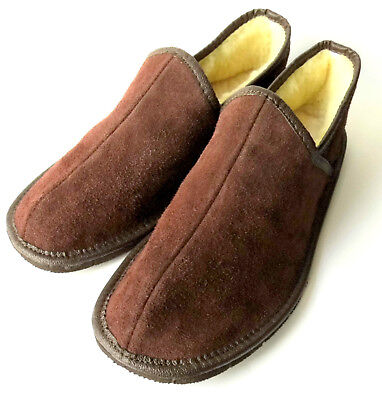 Men's Slippers, Genuine LEATHER (Suede) +  SHEEP WOOL, Sizes: 41 - 46 (UK 12)!