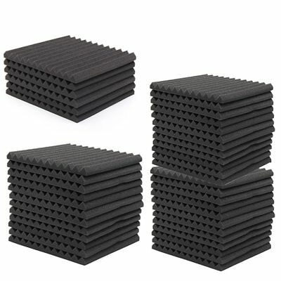 6Pcs Acoustic Music Room Wall Panels Sound Proofing Foam Pads Studio Decor