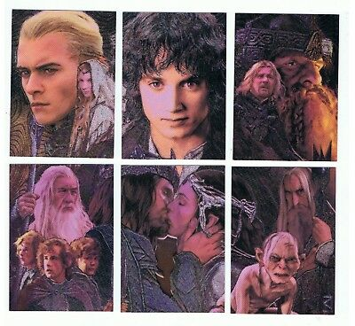 Lord of the Rings LOTR Masterpieces 2 - Etched Foil Puzzle Card Set - Topps 2006