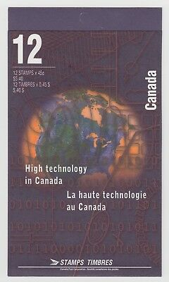 CANADA BOOKLET BK191a 12 x 45c HIGH TECHNOLOGY IN CANADA GLUED FLAP NO TI
