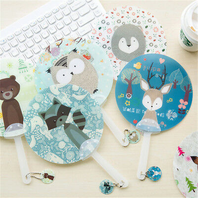 Plastic Cartoon Characte Hand Fan Animal Fan Birthday Party Favor Random ColorMD