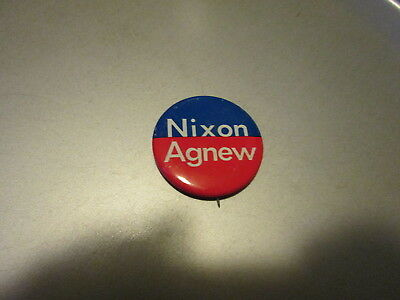 Vintage Official 1968 Richard M. Nixon NIXON AGNEW Presidential Campaign Button!