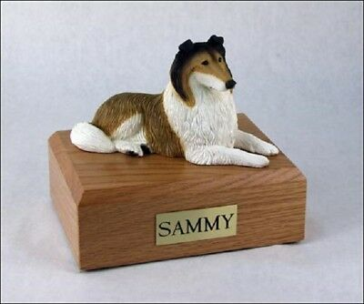 Sable Collie Pet Funeral Cremation Urn Available in 3 Different Colors & 4 Sizes