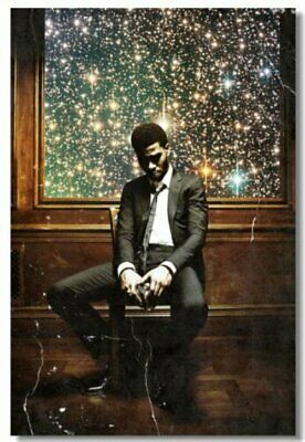 Poster Print Kid Cudi Rapper Stars Art Wall Cloth (503)