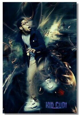 Poster Print Kid Cudi Rapper Stars Art Wall Cloth (502)