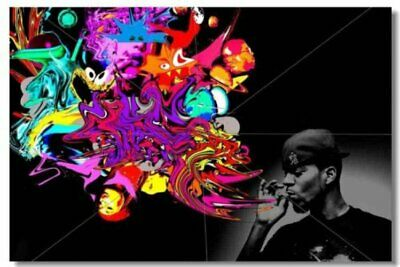 Poster Print Kid Cudi Rapper Stars Art Wall Cloth (507)