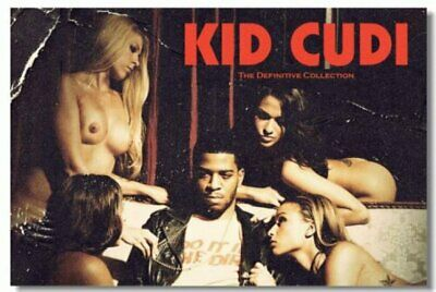 Poster Print Kid Cudi Rapper Stars Art Wall Cloth (509)