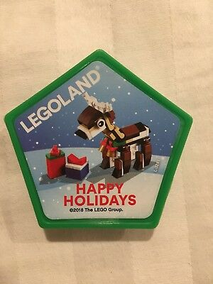 Legoland Pop Badge Official 2018 Holiday Reindeer Peppermint Scented Christmas