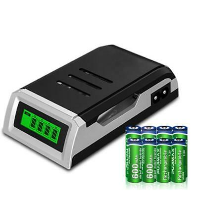 4 Slots Rechargeable Battery Charger for Ni-MH Ni-Cd AA AAA / 9V / C D Battery