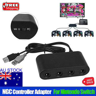 MAYFLASH 4 Ports GameCube Controller Adapter for Switch Wii U & PC USB AU STOCK