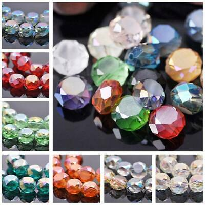 10pcs 14x8mm Faceted Rondelle Crystal Glass Loose Spacer Beads Jewelry Findings