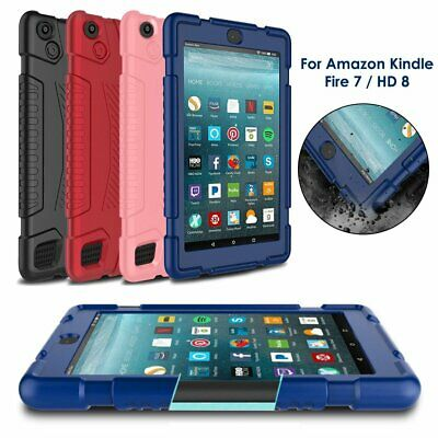 For Amazon Kindle Fire 7 HD 8 Kids Safe Shockproof Silicone Tablet Case Cover UK