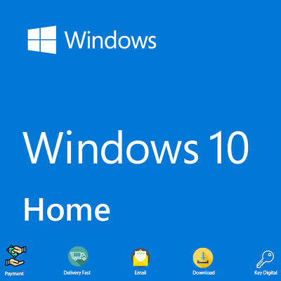 Windows 10 Home Genuine License Key Code 32-64Bit Lifetime For 1 PC