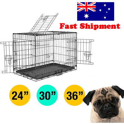 Collapsible Pet Dog Cage Wire Metal Crate Kennel Portable Puppy Cat Rabbit House