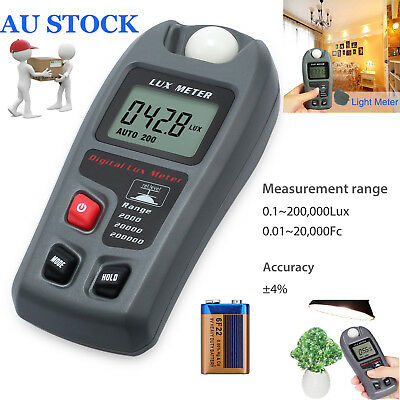 20,000Fc Digital Light Meter Tester Luxmeter Lux/FC Meter Luminometer Photometer