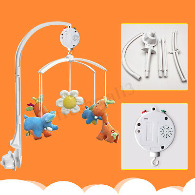Baby Crib Mobile Bed Bell Toy Holder Arm Bracket +12 Melodies Wind-up Music Box