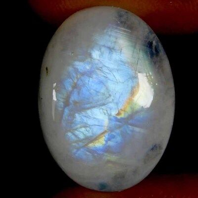 20.45Cts. 100% Natural Royal Rainbow Moonstone Oval Cabochon Untreated Gemstone