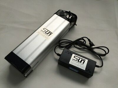 12AH 36V Li-ion Batteries Pack Lithium 3A Charger BMS Rechargeable Electric Bike