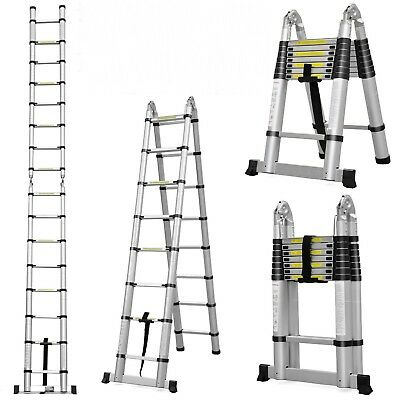 5m 16.4ft A-Frame Ladder Multi Purpose Telescopic Folding  - Next Day Delivery