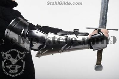 """Larp Gladiator Knight Arm Harness """"Warlord"""": a pair medieval arm for Halloween"""