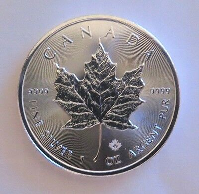 2019 Canada 1 oz. Silver .9999 Maple Leaf $5 Coin GEM BU