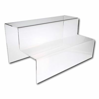 2 Step Counter Stand - Large WIDE - Clear