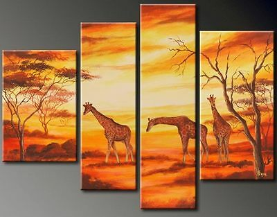 CHENPAT283 4pcs  Grassland scener  100% hand-painted art oil painting on  canvas