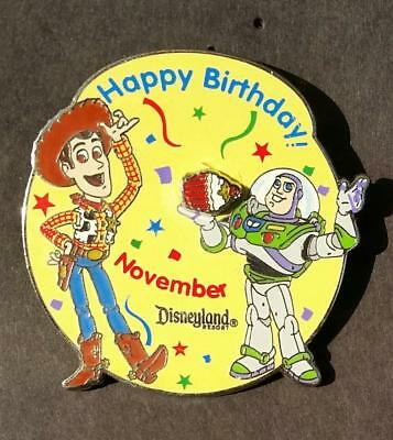 Disney Birthday of the Month November - Toy Story Woody & Buzz Lightyear LE Pin