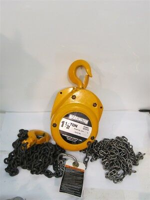 Harrington CF015-10, 1-1/2 Ton Manual Chain Hoist, 10' Lift
