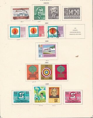 CEYLON ^^^^1968-69  mint & used on page  $$@ ha 239cey