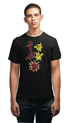 Deadpool & Pickachu Fusion T-Shirt Mens Comedy Tee Shirt