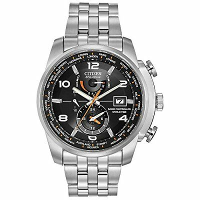 Citizen Men's Eco-Drive World Time Atomic Timekeeping Watch AT9010-52E